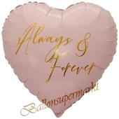 Always & Forever, Herzballon zur Hochzeit, Folienballon inklusive Helium