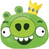 Angry Birds King Pig Luftballon aus Folie, Shape, inklusive Helium