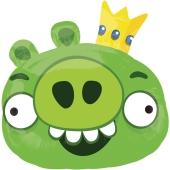 Angry Birds King Pig Luftballon aus Folie ohne Ballongas
