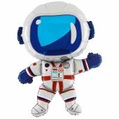 Lustiger Astronaut Luftballon aus Folie ohne Ballongas