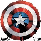Captain America Shield, Avengers Luftballon aus Folie mit Helium