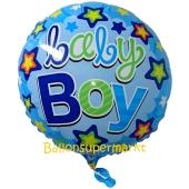 Baby Boy Stars Luftballon aus Folie ohne Helium