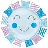 Luftballon zur Geburt und Taufe, Baby Boy Sunshine, ungefüllt