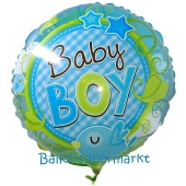 Baby Boy Birds Luftballon aus Folie ohne Helium