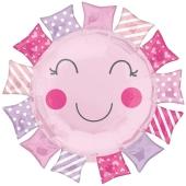 Luftballon zur Geburt und Taufe, Baby Girl Sunshine, ungefüllt