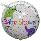 Luftballon aus Folie, Baby Shower Elefanten inklusive Helium