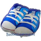 Baby Boy Babyschuhe Luftballon aus Folie mit Helium