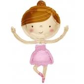 Ballerina-Shape, Luftballon aus Folie mit Helium