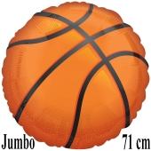 Jumbo Folienballon Basketball, inklusive Helium