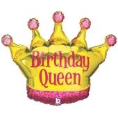 Birthday Queen Luftballon zum Geburtstag, ohne Helium