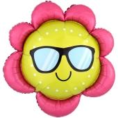 Emoji Blume, Folienballon mit Ballongas-Helium