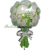 Luftballon aus Folie, Blumenstrauß, ohne Helium-Ballongas
