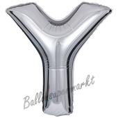 Großer Buchstabe Y Luftballon aus Folie in Silber