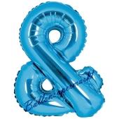 Luftballon Buchstabe &, blau, 35 cm