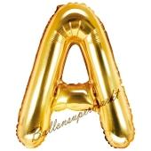 Luftballon Buchstabe A, gold, 35 cm