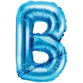 Luftballon Buchstabe B, blau, 35 cm