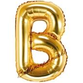 Luftballon Buchstabe B, gold, 35 cm