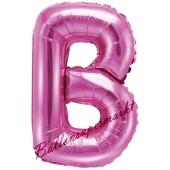Luftballon Buchstabe B, pink, 35 cm