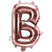 Luftballon Buchstabe B, roségold, 35 cm