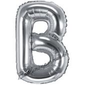 Luftballon Buchstabe B, silber, 35 cm