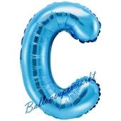 Luftballon Buchstabe C, blau, 35 cm