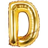 Luftballon Buchstabe D, gold, 35 cm