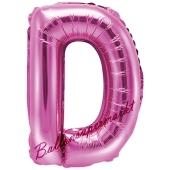 Luftballon Buchstabe D, pink, 35 cm