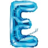 Luftballon Buchstabe E, blau, 35 cm