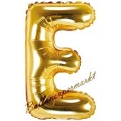 Luftballon Buchstabe E, gold, 35 cm