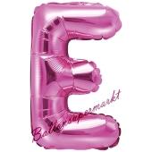 Luftballon Buchstabe E, pink, 35 cm