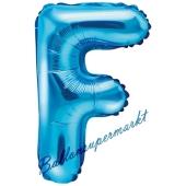 Luftballon Buchstabe F, blau, 35 cm