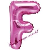 Luftballon Buchstabe F, pink, 35 cm