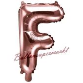 Luftballon Buchstabe F, roségold, 35 cm