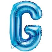 Luftballon Buchstabe G, blau, 35 cm