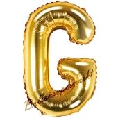 Luftballon Buchstabe G, gold, 35 cm