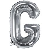 Luftballon Buchstabe G, silber, 35 cm
