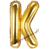 Luftballon Buchstabe K, gold, 35 cm