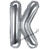 Luftballon Buchstabe K, silber, 35 cm