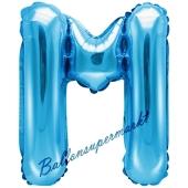 Luftballon Buchstabe M, blau, 35 cm