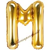 Luftballon Buchstabe M, gold, 35 cm