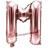 Luftballon Buchstabe M, roségold, 35 cm