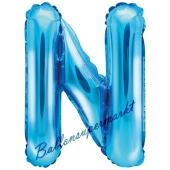 Luftballon Buchstabe N, blau, 35 cm