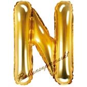 Luftballon Buchstabe N, gold, 35 cm