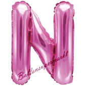 Luftballon Buchstabe N, pink, 35 cm