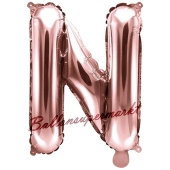 Luftballon Buchstabe N, roségold, 35 cm