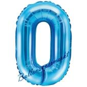 Luftballon Buchstabe O, blau, 35 cm