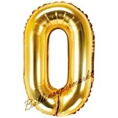 Luftballon Buchstabe O, gold, 35 cm