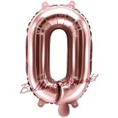 Luftballon Buchstabe O, roségold, 35 cm
