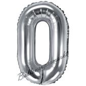 Luftballon Buchstabe O, silber, 35 cm