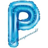 Luftballon Buchstabe P, blau, 35 cm